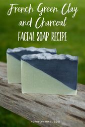 This homemade French facial soap recipe made of green clay and …   – Simply Soap Making Homemade Soap Recipes + Tutorials