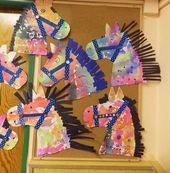 Horse craft thought for preschoolers After a enjoyable day of spring occasion& horse theme c…