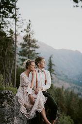 Mountain Elopement in Washington near Leavenworth! Barfoot Bride! Natural Intuit…