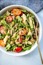 This easy, mayo-free tuna pasta salad packs in tons of fresh veggies, protein, a… – Healthy Main Dishes
