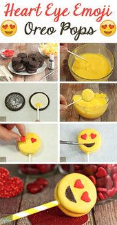 Heart Eye Emoji Oreo Pops