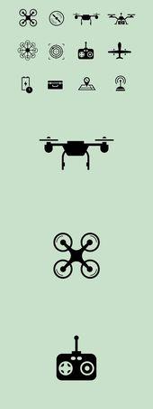 Drone Design : 12 Drone Icons