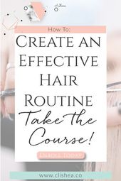 The way to Construct an Efficient Pure Hair Care Routine