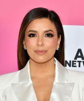 Long Straight Cut  Smoky Eyes  Diamond Studs    Eva Longoria kept it simple yet elegant with this straight, side-parted style at TheWrap'...