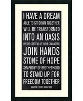 Amanti Art Martin Luther King Speech Framed Art Print Martin