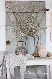 35+ idées de décoration de printemps pour maison de ferme rustique à ajouter une touche distinctive à votre maison cette saison – Décoration de maison