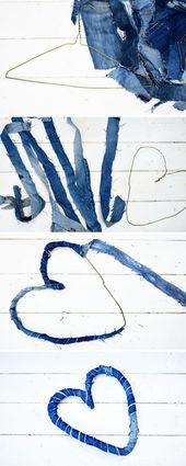 Wie man reizvolle Denim-Herzen auf zwei Arten aus Jeans macht
