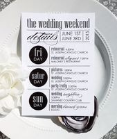 Wedding Itinerary | wedding itinerary | wedding schedule | wedding timeline – Style IT20 – ULTRAMODERN COLLECTION