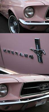 1967 Ford Mustang. Eines der originalen 1.066 bemalten Dusk Rose. Noch ein rosa Pon …   – cars