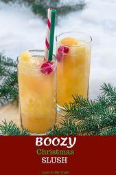 Boozy Christmas Slush – Fun Beverages!