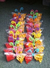 Butterfly snack bags #Easter snack, #Butterfly snack