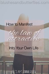 "How to Manifest the Law of Attraction Into Your Own Life – An ""I AM"" Journal Review – Blogger Support"