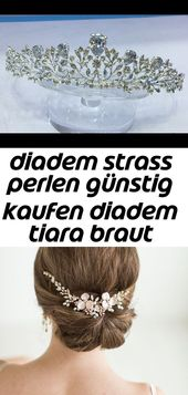 Diadem Strass Perlen Diadem Tiara Braut Diadem Hochzeit Diadem Strass Silber Diadem 1   – Haare
