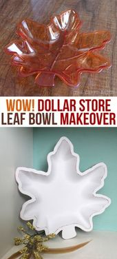Fall Dollar Store Bowl Makeover