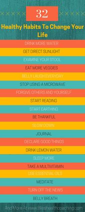 32 Healthy Habits to Change Your Life