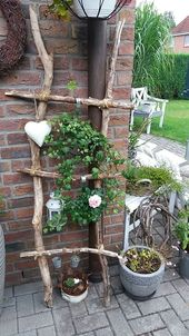 Ladder made of homemade branches #made #leaders #self #branched