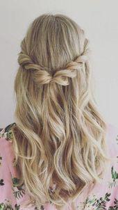 Half Updo and Blonde Hair Color | Favorite – HALFFFFENE – Hairstyles … – D … – #blonde #Hairstyles #Hair color #half open #Lieblings
