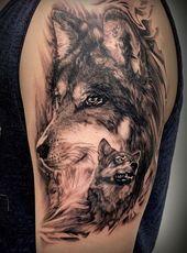 Die 50 schönsten Wolf Tattoo Designs
