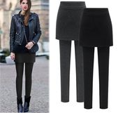 Rock Leggings Frauen Fleece Warme Winter Kaschmir Verdickung Plus ...