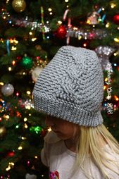 Textured Cable Hat – Crocheting Crazy – Crochet caps n beanies