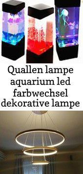 Jellyfish Lamp Aquarium Led Color Changing Decorative Lamp Quallen Lampe Aq Jellyfish Lamp Aquarium Led Color Changing De In 2020 Dekorative Lampen Lampen Led