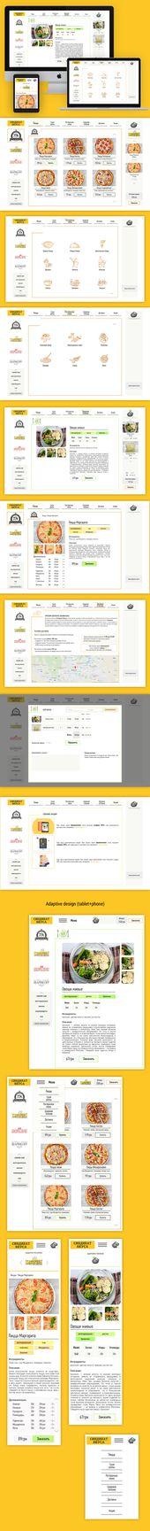 Ознакомьтесь с этим проектом @Behance «Daily UI challenge #002 - delivery order form