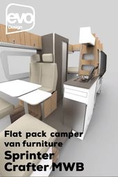 VW Crafter camper van furniture