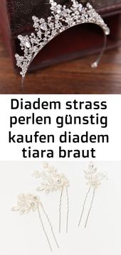 Diadem Strass Perlen Diadem Tiara Braut Diadem Hochzeit Diadem Strass Silber Diadem   – Haare