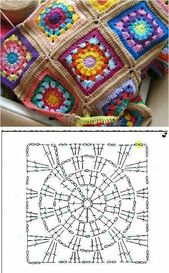 Diagonal Tunisian stitch – crochet (◕‿◕✿) – Crochet Graphgan
