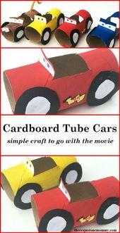 Wenn Sie einen Auto-Fan haben, werden Sie dieses einfache Handwerk lieben!   – Klopapierrollen basteln