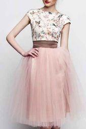 Melissa saved to 60erStandesamt Kleid rosa braun kurz mit Tüllrock individuelle…