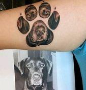 70 diseños de tatuajes de pata de perro para hombres: ideas de tinta de impresión canina   – Tattoos