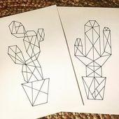 Kaktus-Origami #Kaktus #Kaktusaddict #Zeichnung #dessinorigami #origami -,  #dessinorigami #K…