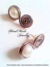 Handgemachter Schmuck  HadMade Jewelry: Ohrringe  Ohrringe #wirejewelry