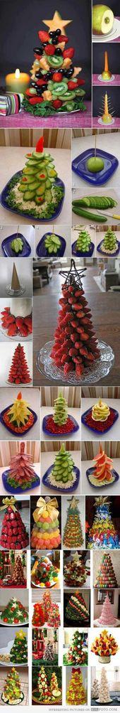 26 Sapins à faire avec des aliments allant: Des fruits et légumes jusqu'aux bonbons, pour célébrer les Fêtes!