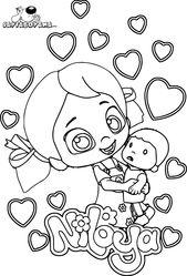 Niloya Oyuncak Mete Ile Oynuyor Boyama Sayfasi Wallpaper Oyuncak Boyama Sayfalari Bebek Oyuncaklari