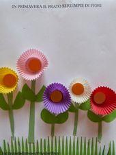 Un bouquet de fleurs en papier