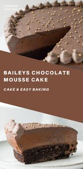 Baileys Chocolate Mousse Cake