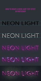 Neon lights have a cool vintage look. Recreating t…