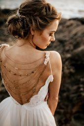 "Wedding ""Luna"" Hair Jewelry, Beaded Headband, Bridal Headband, Crystal Halo, Boho Bridal Crown ..."