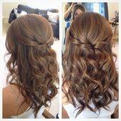 Half Up Half Down Wedding Hairstyles for Medium Length Hair by Jennifer J. Jacks