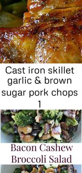 Cast iron skillet garlic & brown sugar pork chops 1