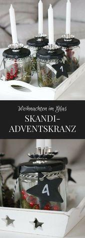 Photo of Skandinavischer Adventskranz in einem Glas – Lavendel – Blog