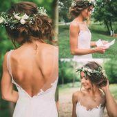 Mariée avec chignons et couronne de fleurs par Bangs and Blush de The Imag …  #bangs #blush…