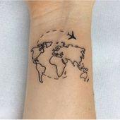 coole Tattoo-Ideen. Tätowierungen. Karte – #coole…