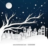 Winter Snow Urban Countryside Landscape City Stock Vector (Royalty Free) 522579406
