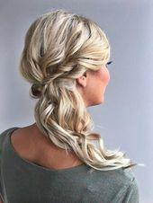 Bridesmaid hair to the side #bridesmaidhairshort