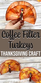 Coffee Filter Turkeys Thanksgiving Craft for Kids – Family Activities & Play Ideas