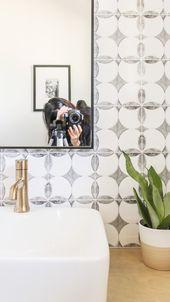 DIY Budget-Friendly Powder Room Redo – Boho Chic Bathroom – Apartment & House Decor
