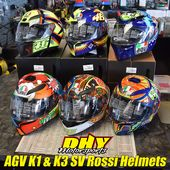 Are You A Valentino Rossi Fan Dhymotorsports Is Now Carrying Agv Helmets Like These K1 And K3 Sv Helmets Stop By And Let T Helmet Design Agv Helmets Helmet